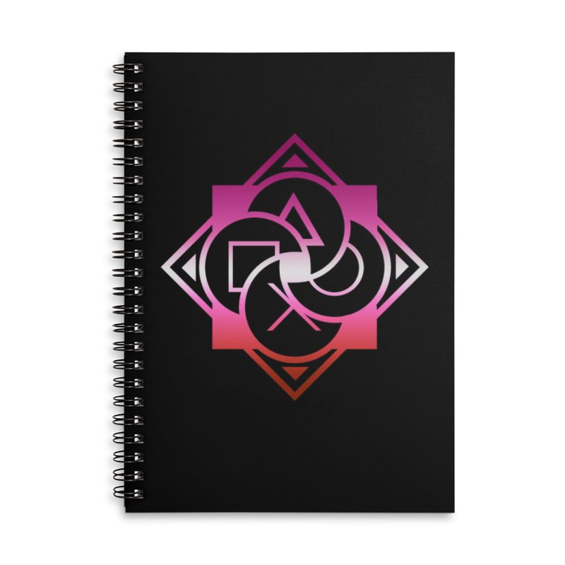 Logo - Lesbian Pride Accessories Lined Spiral Notebook by Queer Women Game Loot