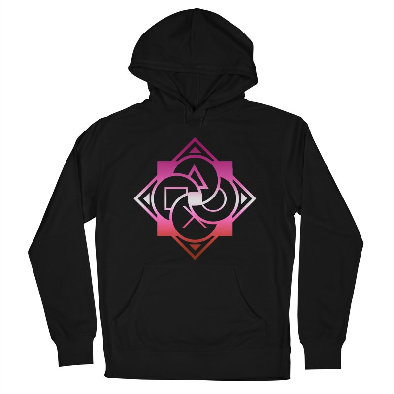 Logo - Lesbian Pride Women's French Terry Pullover Hoody by Queer Women Game Loot