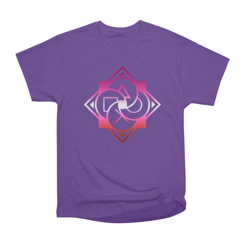 Logo - Lesbian Pride Women's Heavyweight Unisex T-Shirt by Queer Women Game Loot