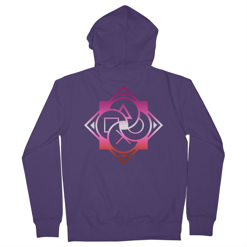 Logo - Lesbian Pride Women's French Terry Zip-Up Hoody by Queer Women Game Loot