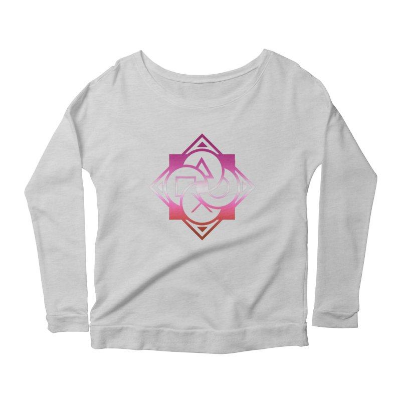 Logo - Lesbian Pride Women's Scoop Neck Longsleeve T-Shirt by Queer Women Game Loot