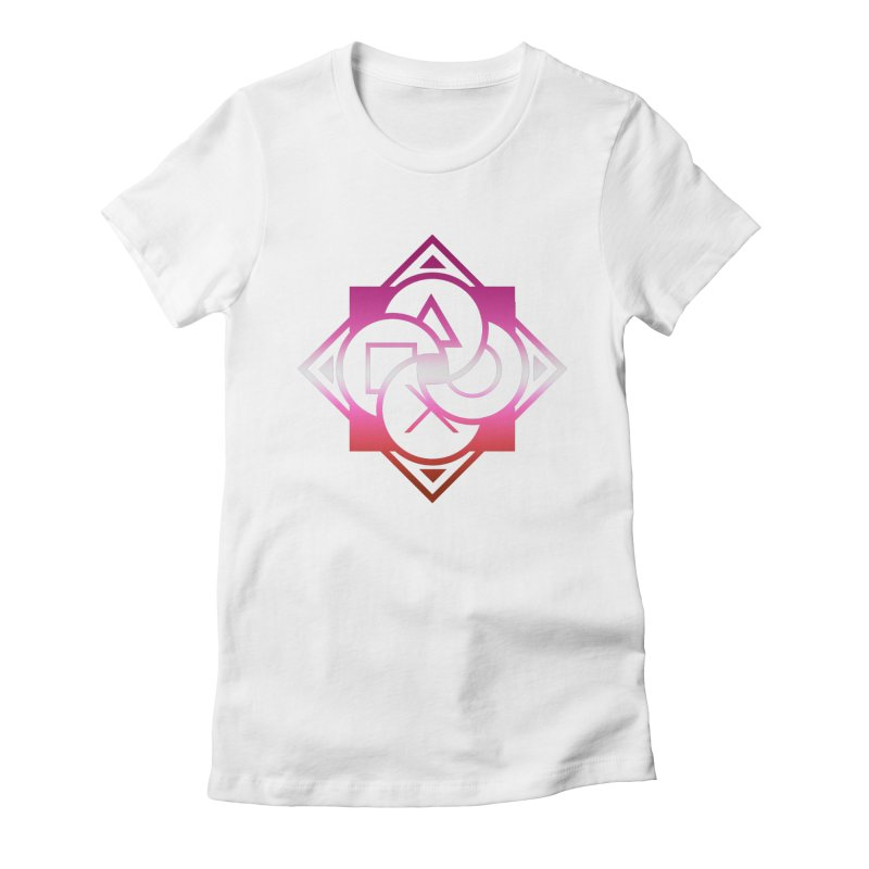 Logo - Lesbian Pride Women's Fitted T-Shirt by Queer Women Game Loot