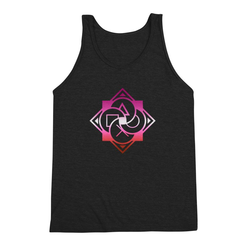 Logo - Lesbian Pride Men's Triblend Tank by Queer Women Game Loot