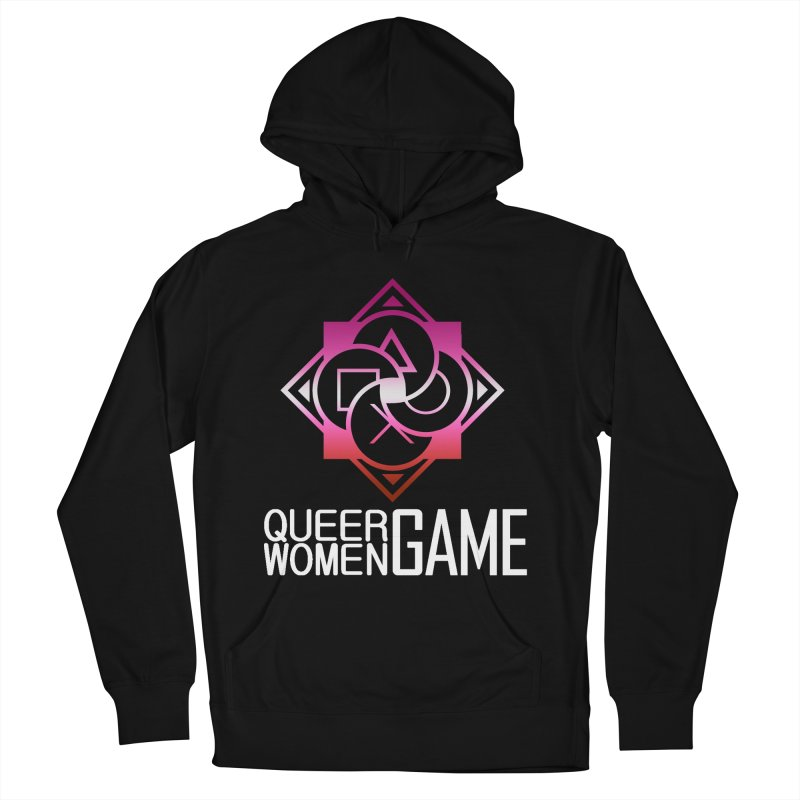 Logo & Text - Lesbian Pride Women's Pullover Hoody by Queer Women Game Loot