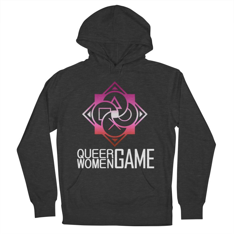 Logo & Text - Lesbian Pride Men's Pullover Hoody by Queer Women Game Loot