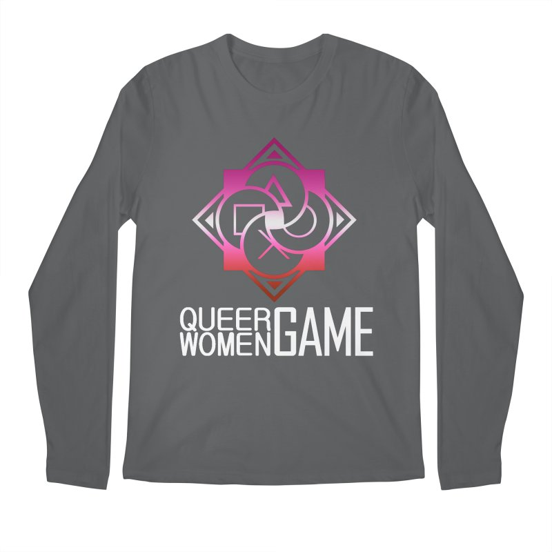 Logo & Text - Lesbian Pride Men's Longsleeve T-Shirt by Queer Women Game Loot