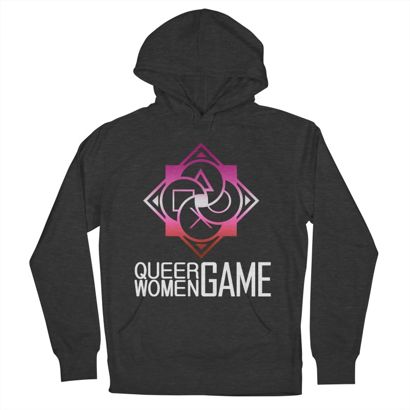 Logo & Text - Lesbian Pride Women's French Terry Pullover Hoody by Queer Women Game Loot
