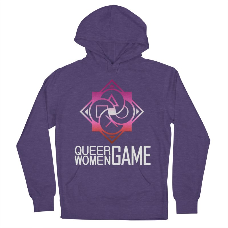 Logo & Text - Lesbian Pride Men's French Terry Pullover Hoody by Queer Women Game Loot
