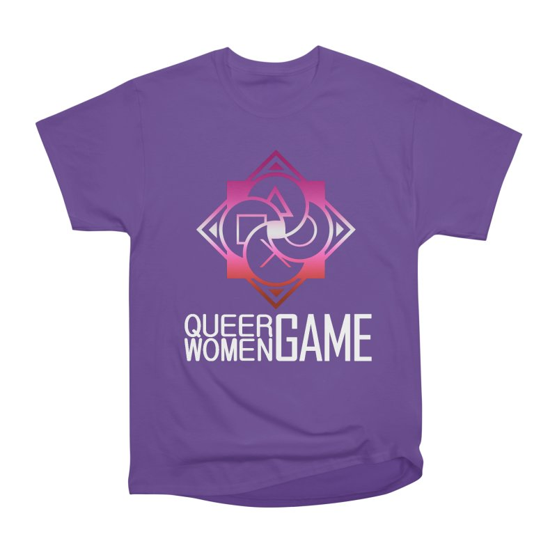Logo & Text - Lesbian Pride Men's Heavyweight T-Shirt by Queer Women Game Loot
