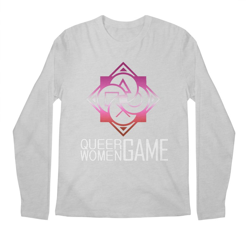 Logo & Text - Lesbian Pride Men's Regular Longsleeve T-Shirt by Queer Women Game Loot