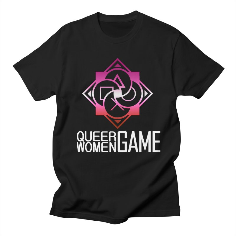 Logo & Text - Lesbian Pride Men's T-Shirt by Queer Women Game Loot
