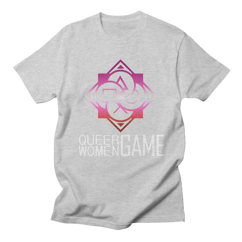 Logo & Text - Lesbian Pride Men's Regular T-Shirt by Queer Women Game Loot