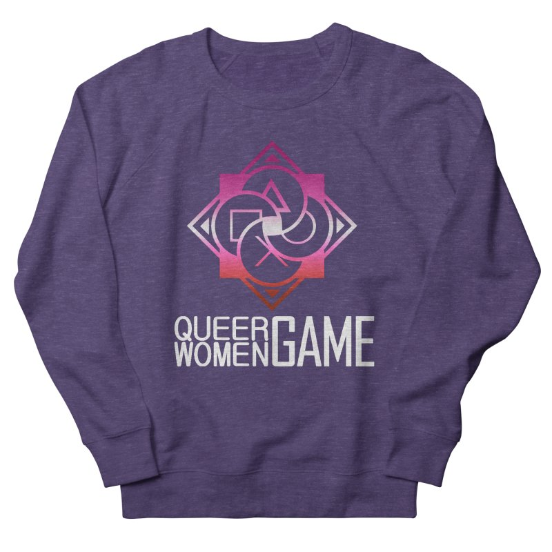 Logo & Text - Lesbian Pride Men's French Terry Sweatshirt by Queer Women Game Loot