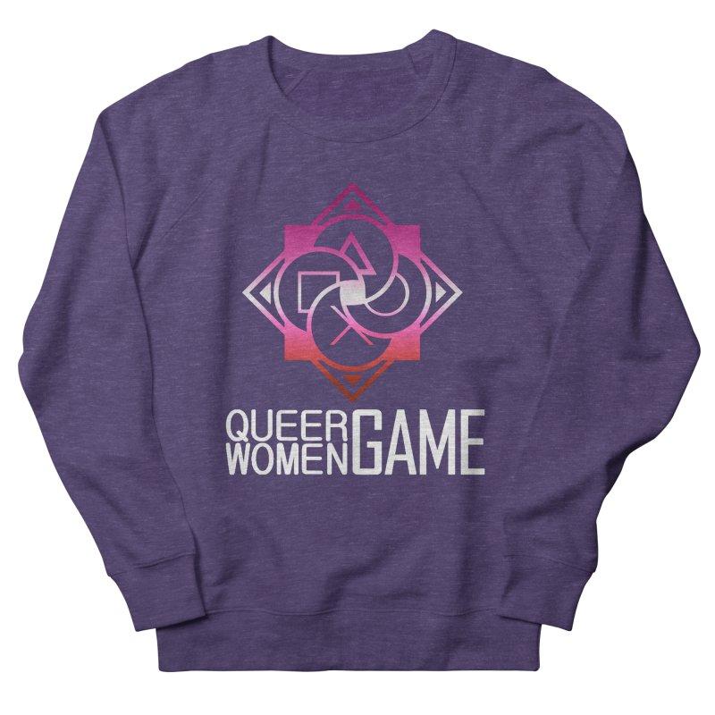 Logo & Text - Lesbian Pride Men's Sweatshirt by Queer Women Game Loot