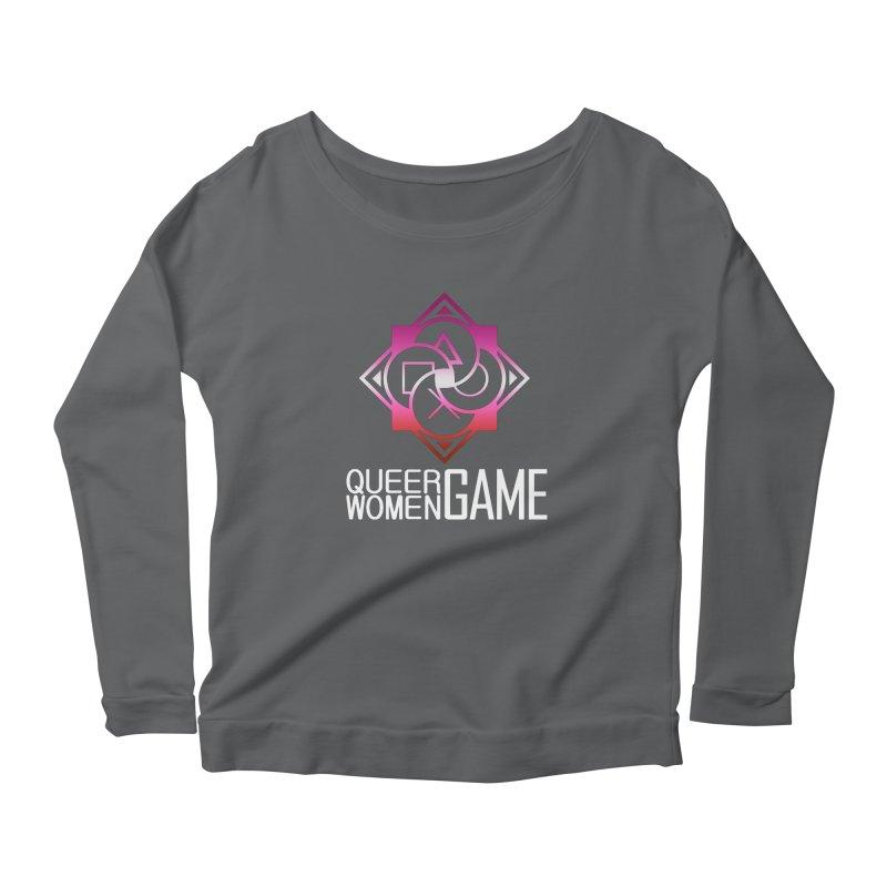 Logo & Text - Lesbian Pride Women's Longsleeve T-Shirt by Queer Women Game Loot