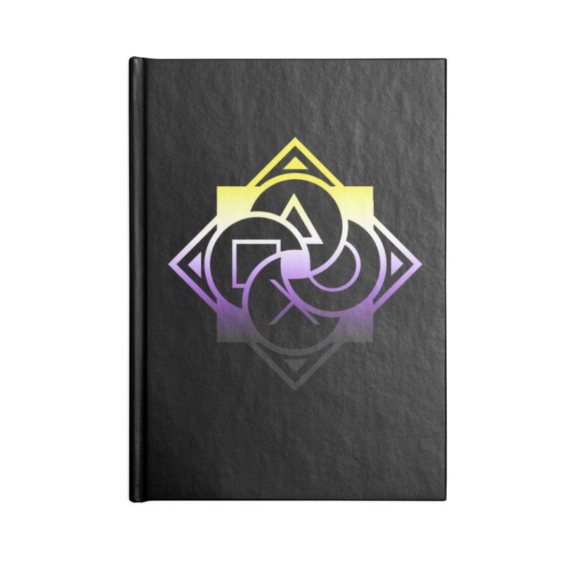 Logo - Nonbinary Pride Accessories Blank Journal Notebook by Queer Women Game Loot
