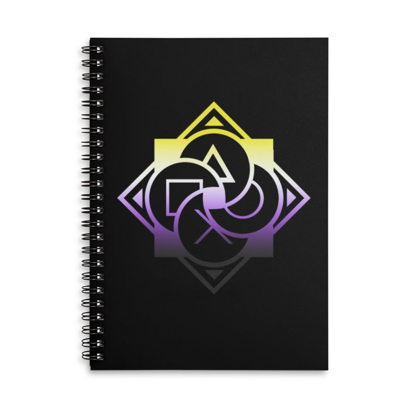 Logo - Nonbinary Pride Accessories Lined Spiral Notebook by Queer Women Game Loot