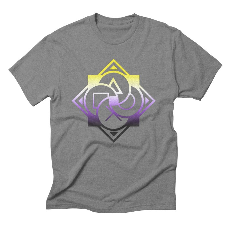 Logo - Nonbinary Pride Men's T-Shirt by Queer Women Game Loot