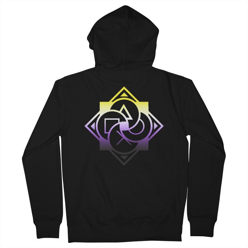 Logo - Nonbinary Pride Men's Zip-Up Hoody by Queer Women Game Loot