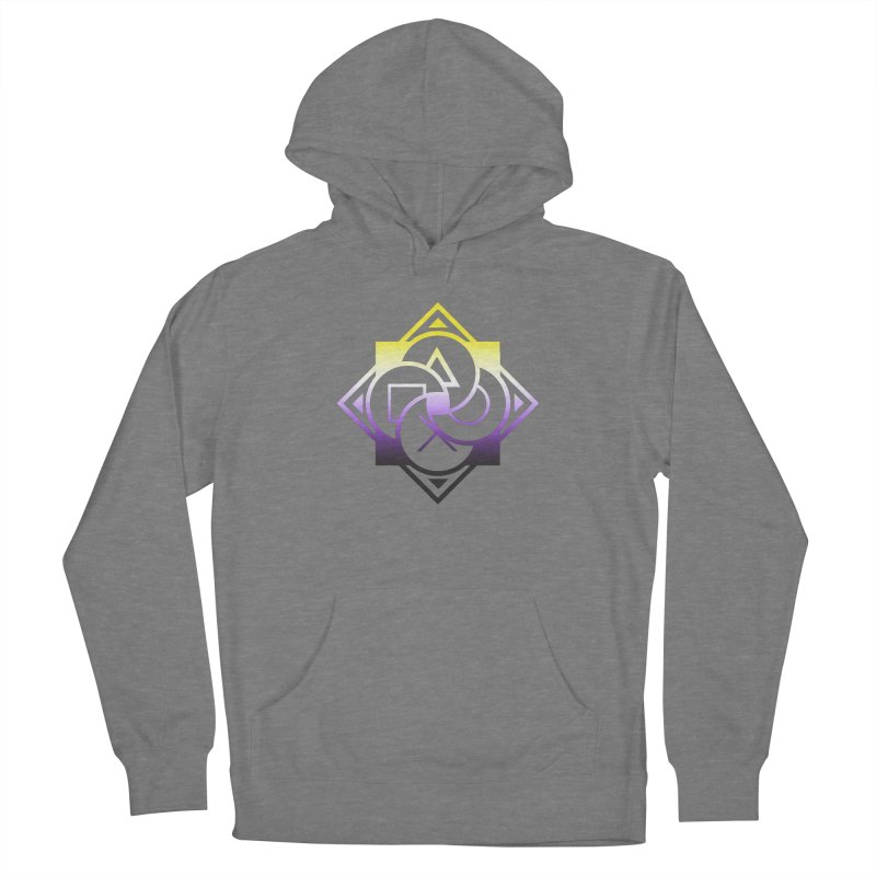 Logo - Nonbinary Pride Women's Pullover Hoody by Queer Women Game Loot