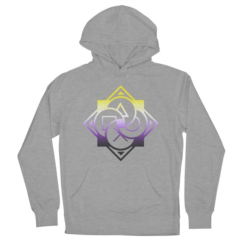 Logo - Nonbinary Pride Women's French Terry Pullover Hoody by Queer Women Game Loot