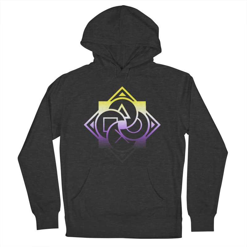 Logo - Nonbinary Pride Men's Pullover Hoody by Queer Women Game Loot
