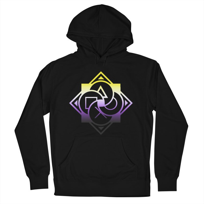 Logo - Nonbinary Pride Men's French Terry Pullover Hoody by Queer Women Game Loot