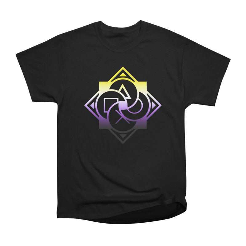 Logo - Nonbinary Pride Men's Heavyweight T-Shirt by Queer Women Game Loot