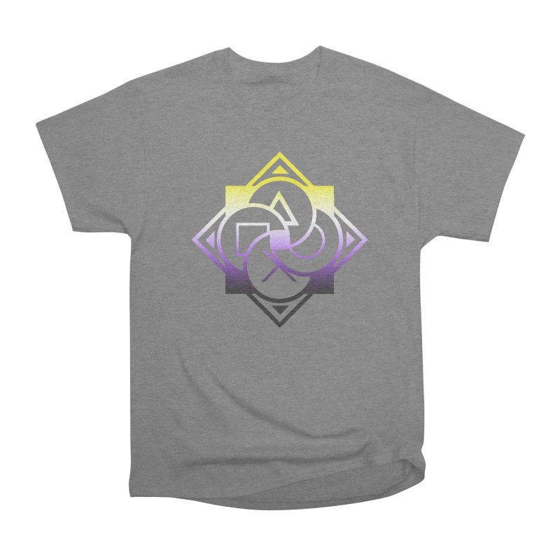 Logo - Nonbinary Pride Women's Heavyweight Unisex T-Shirt by Queer Women Game Loot