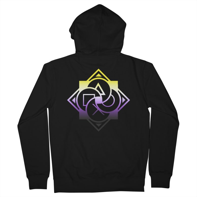 Logo - Nonbinary Pride Men's French Terry Zip-Up Hoody by Queer Women Game Loot