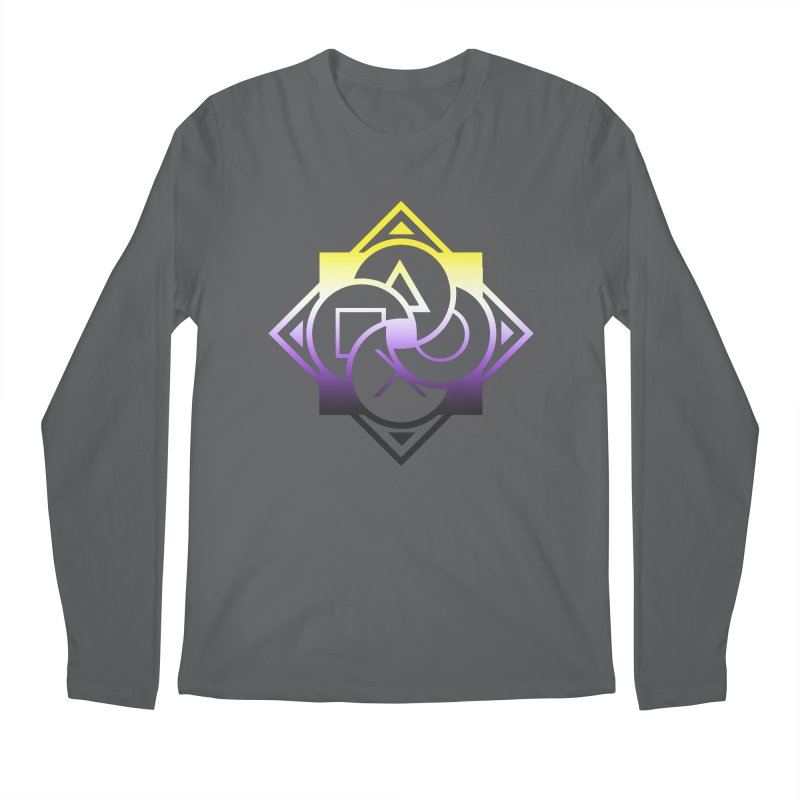 Logo - Nonbinary Pride Men's Regular Longsleeve T-Shirt by Queer Women Game Loot