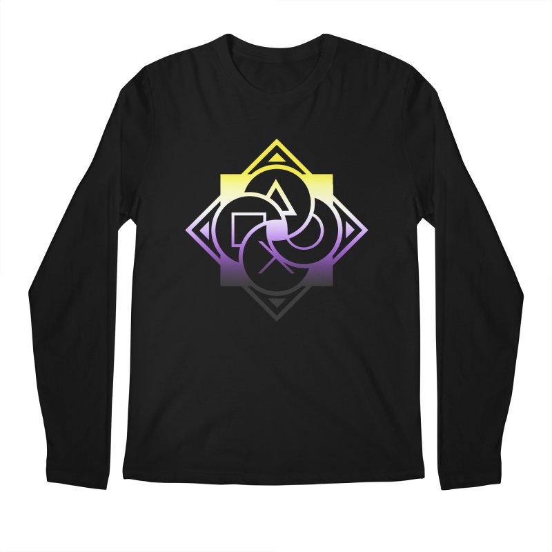 Logo - Nonbinary Pride Men's Regular Longsleeve T-Shirt by Queer Women Game Loot
