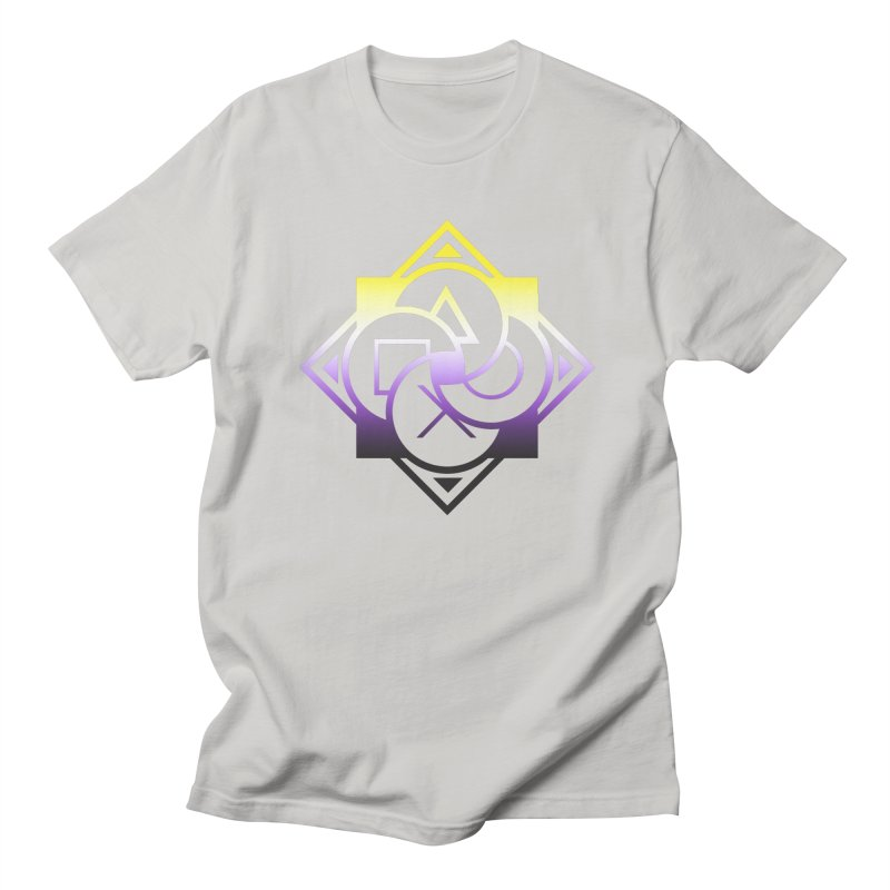 Logo - Nonbinary Pride Men's Regular T-Shirt by Queer Women Game Loot