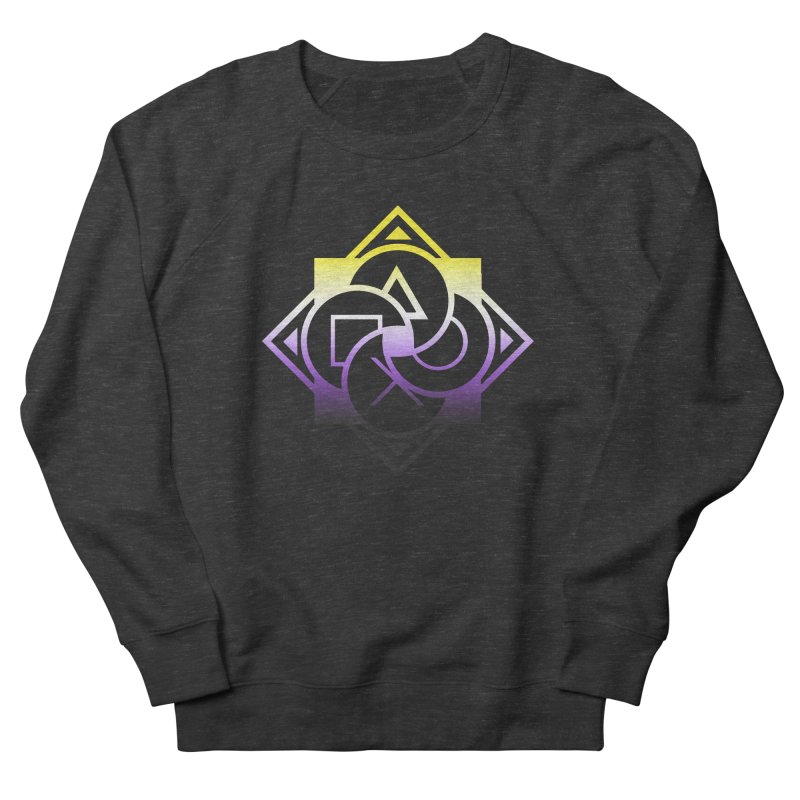 Logo - Nonbinary Pride Women's French Terry Sweatshirt by Queer Women Game Loot
