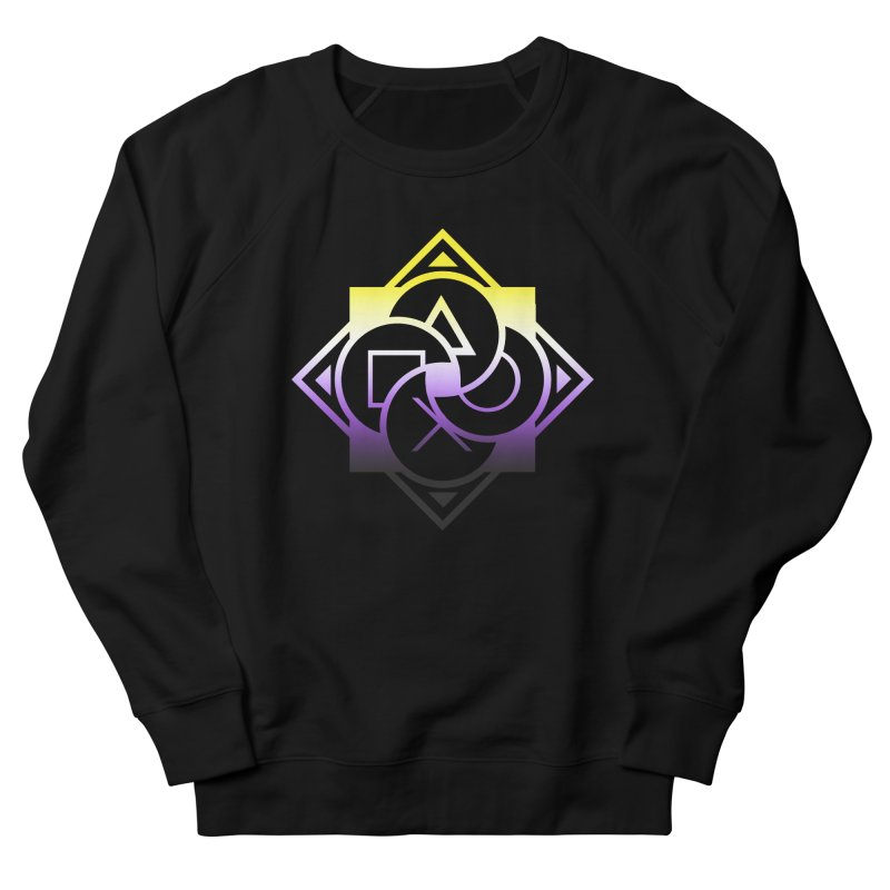 Logo - Nonbinary Pride Men's French Terry Sweatshirt by Queer Women Game Loot