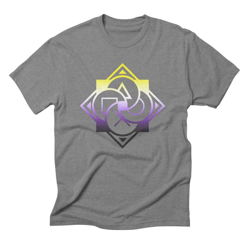 Logo - Nonbinary Pride Men's Triblend T-Shirt by Queer Women Game Loot