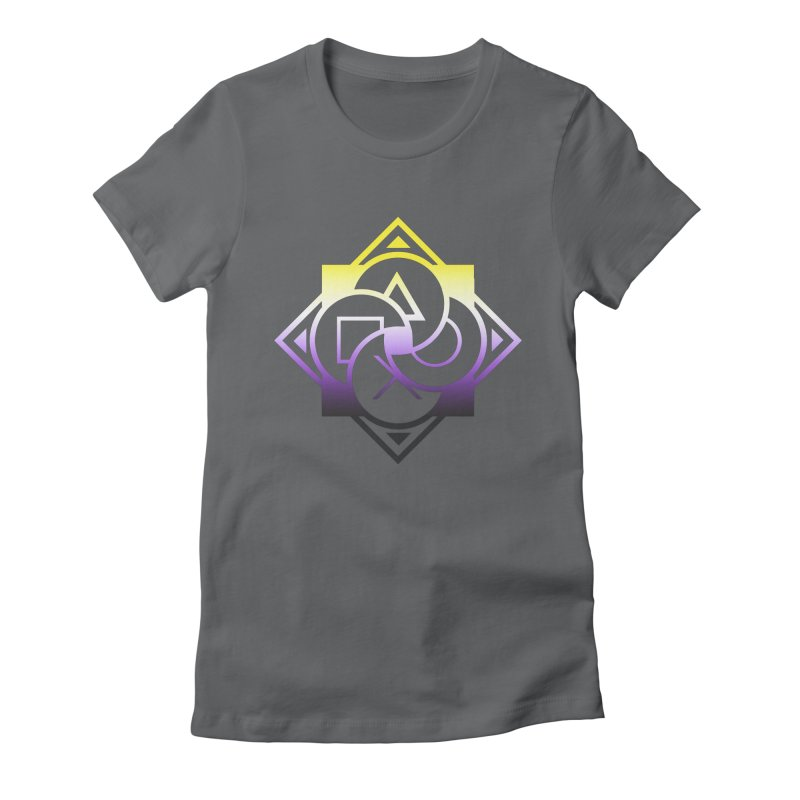 Logo - Nonbinary Pride Women's Fitted T-Shirt by Queer Women Game Loot
