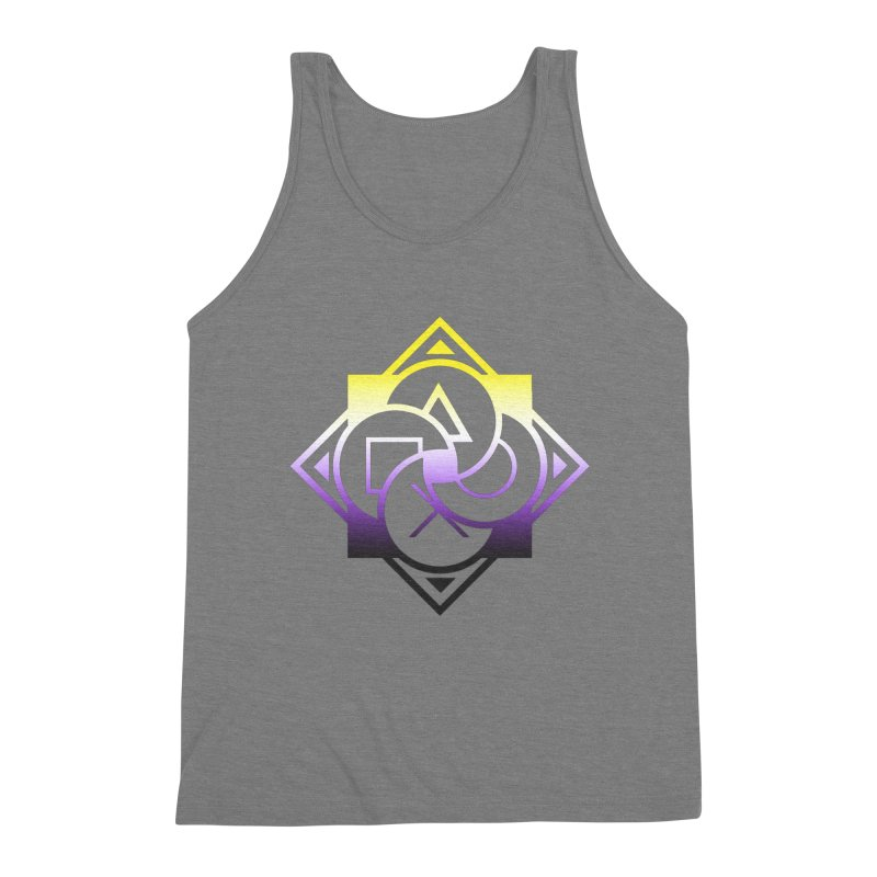 Logo - Nonbinary Pride Men's Tank by Queer Women Game Loot