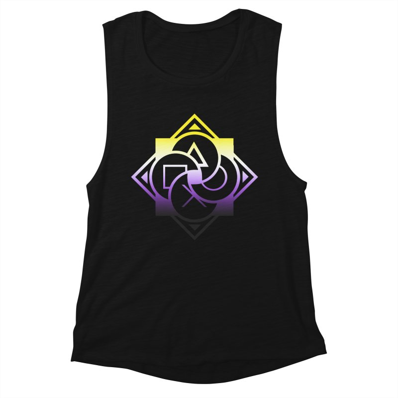 Logo - Nonbinary Pride Women's Muscle Tank by Queer Women Game Loot