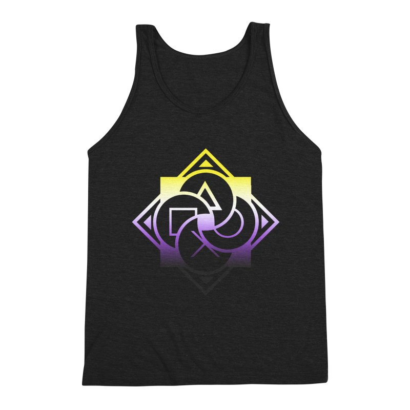 Logo - Nonbinary Pride Men's Triblend Tank by Queer Women Game Loot