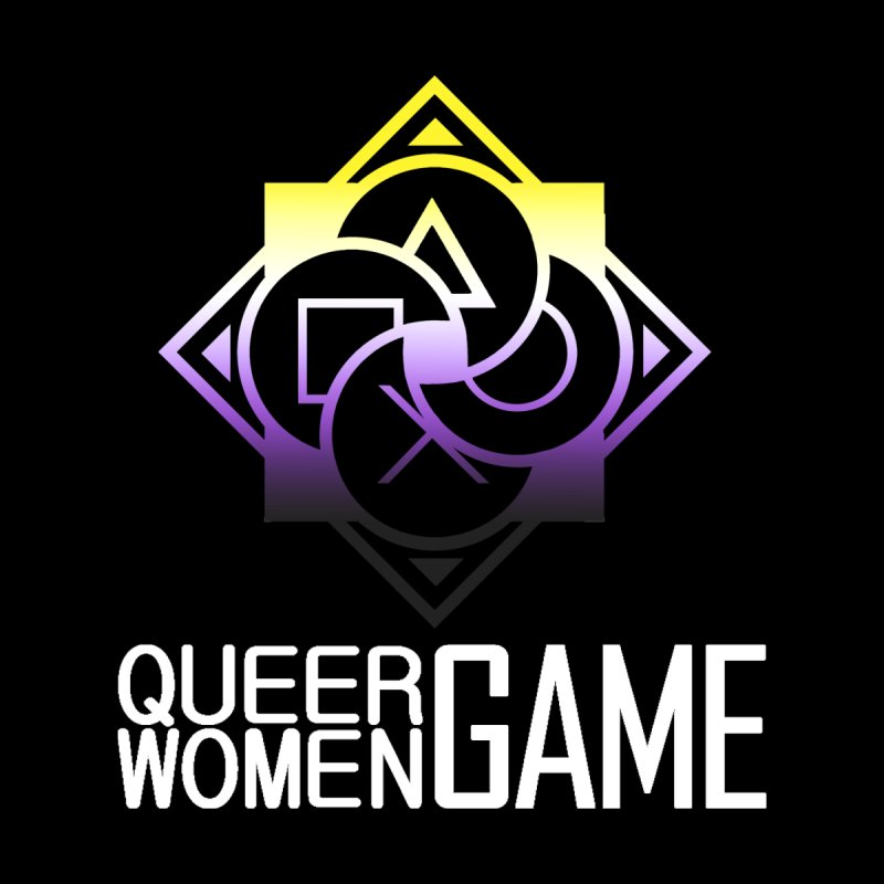 Logo & Text - Nonbinary Pride Women's V-Neck by Queer Women Game Loot
