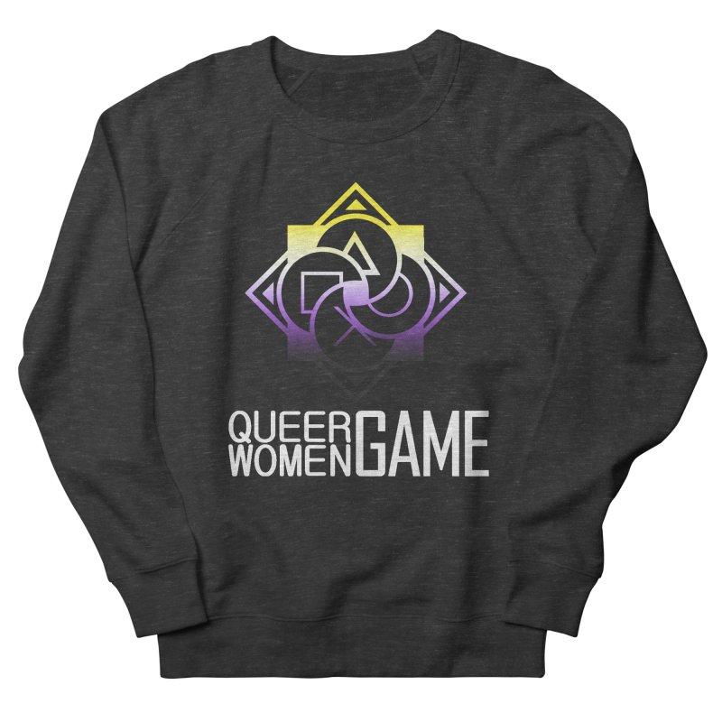Logo & Text - Nonbinary Pride Women's Sweatshirt by Queer Women Game Loot