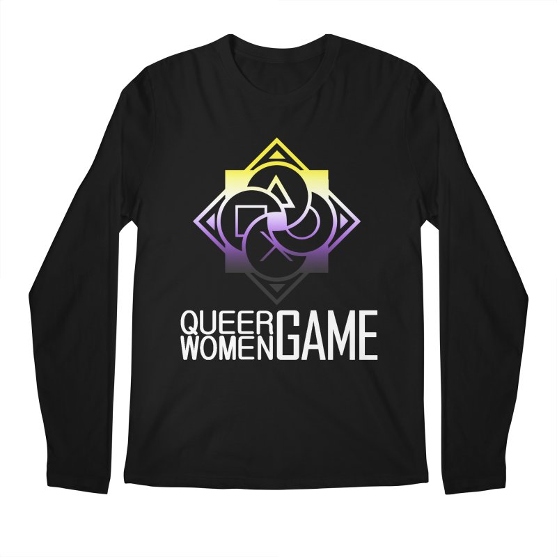 Logo & Text - Nonbinary Pride Men's Regular Longsleeve T-Shirt by Queer Women Game Loot