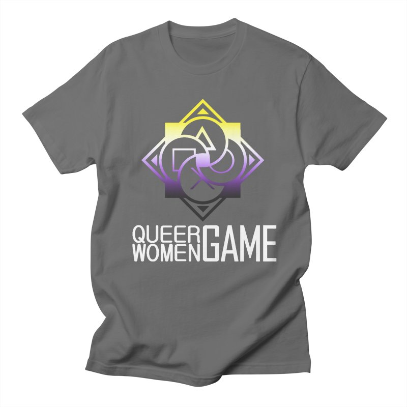 Logo & Text - Nonbinary Pride Women's Regular Unisex T-Shirt by Queer Women Game Loot