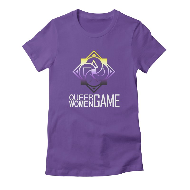 Logo & Text - Nonbinary Pride Women's T-Shirt by Queer Women Game Loot