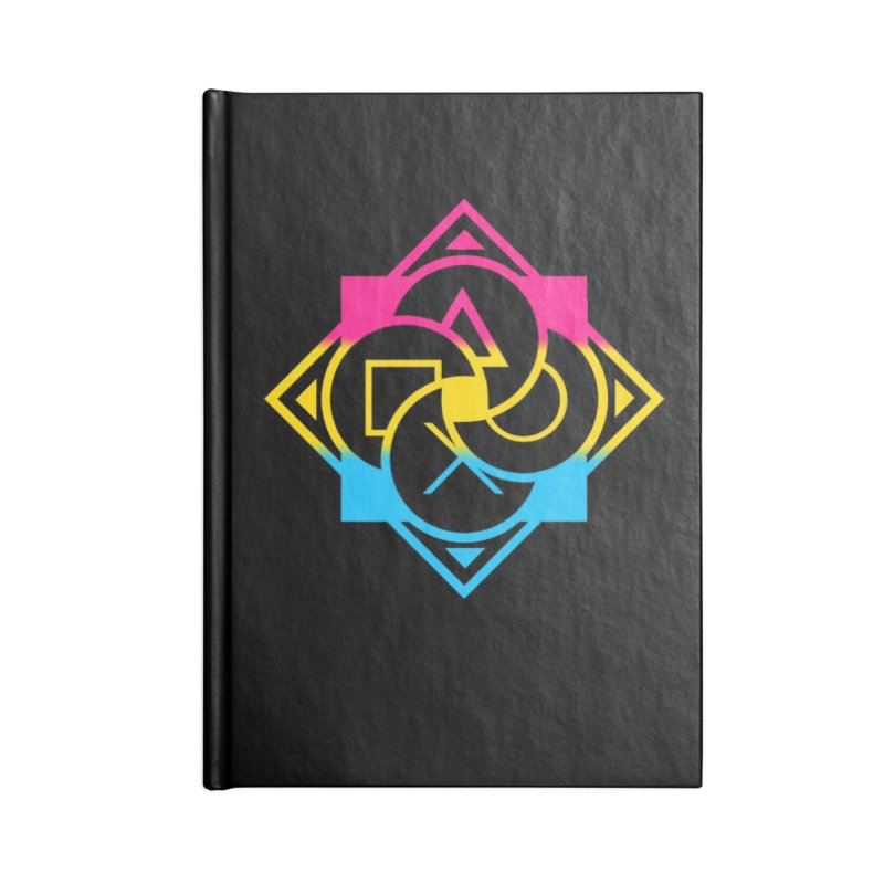 Logo - Pan Pride Accessories Lined Journal Notebook by Queer Women Game Loot