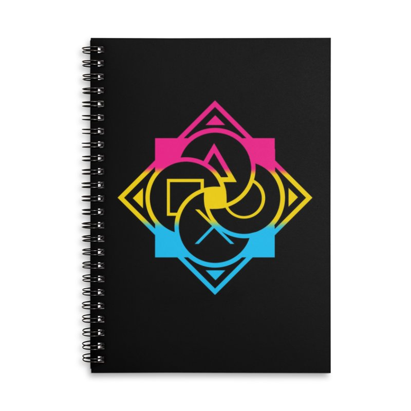 Logo - Pan Pride Accessories Lined Spiral Notebook by Queer Women Game Loot