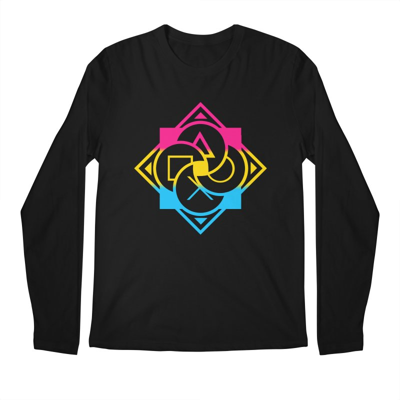Logo - Pan Pride Men's Longsleeve T-Shirt by Queer Women Game Loot