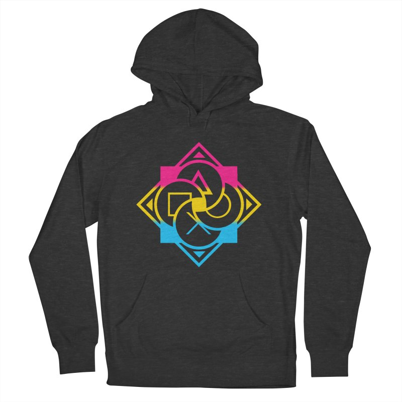 Logo - Pan Pride Men's French Terry Pullover Hoody by Queer Women Game Loot