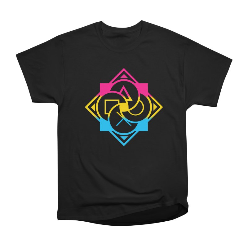 Logo - Pan Pride Men's Heavyweight T-Shirt by Queer Women Game Loot
